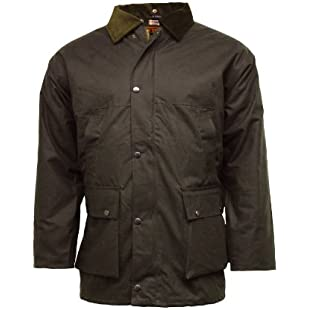 Customer reviews New British Quilted Padded Country Wax Cotton Rain Jacket