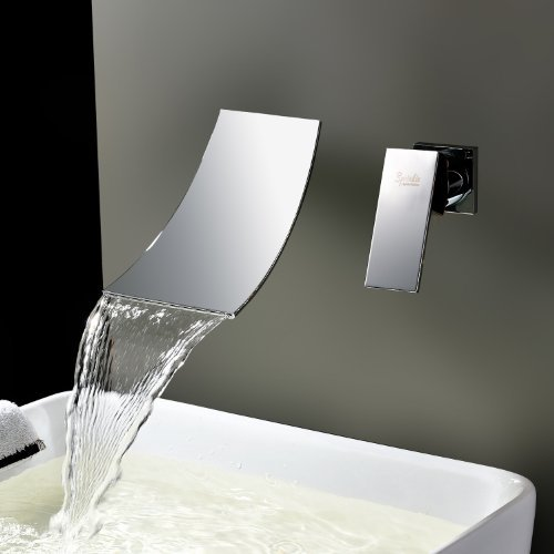 Lightinthebox Widespread Waterfall Bathtub Mixer Taps Bath Shower Faucets Single Handle Two Holes Wall Mount Curve Spout Bathroom Sink Faucets Vessel Sink Vanity Faucets Lavatory Plumbing Fixtures