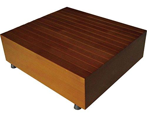 既製品踏み台 60×40×15〜18cm ブラウン 51043 (シモヤマ) (玄関台)