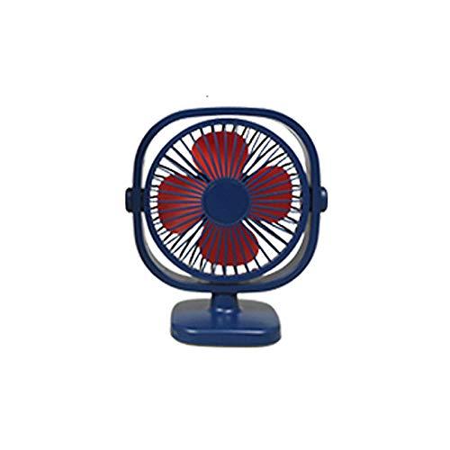 whmyz Red led mini ventilador de escritorio recargable USB portátil dormitorio estudiante mini ventilador de escritorio azul profundo cuadrado estándar