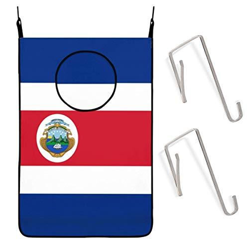 Bolsa de almacenamiento para colgar ropa sucia, con bandera de Costa Rica