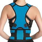 Panegy - Corrector Postural de Hombro Espalda Corregir Postura Respirable para Adolescentes Hombre Mujer Transpirable Alive Dolor de Cuello - Azul Ligero - M