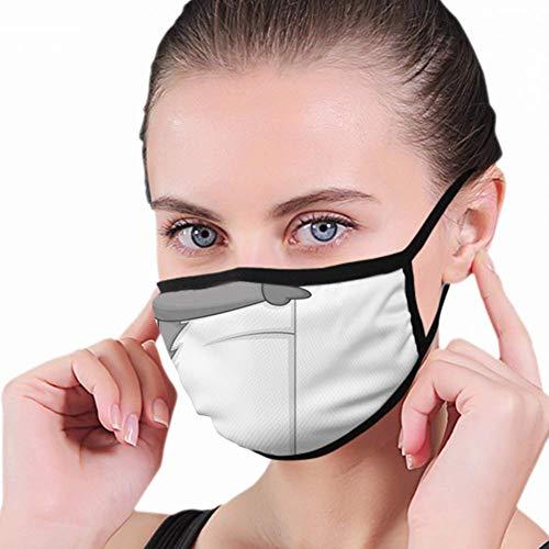 Mouth Masker, leuke cartoon, het lege gezichtsmasker houdt je gezicht en mondmasker voor het hardlopen en fietsen in de open lucht