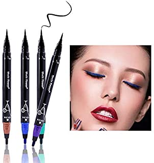 2 in 1 Waterproof Liquid Eyeliner (Selected: Brown+Black) - Smudge proof, Double Head Makeup Pen– Available in 4 Colors