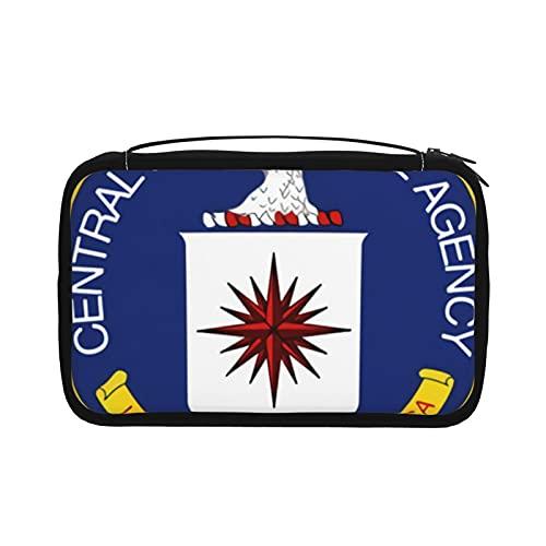 Central Intelligence Agency - Bolsas de aseo para mujer, plegable, bolsa organizadora con gancho para colgar con bolsa múltiple