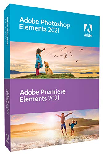 Adobe Photoshop Elements 2021 & Premiere Elements 2021 - Confezione di scatole (aggiornamento) - 1 utente - Win, Mac - International English
