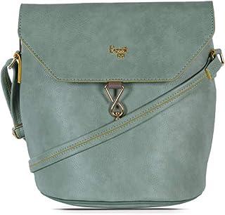Baggit Women's Synthetic Handbag (Meldy Y G Z)(Green)