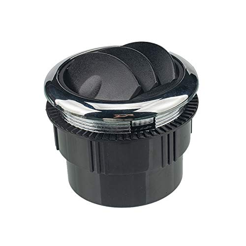 Knopf-Art-75mm A/C Klimaanlage Outlet Vent (□ 87/75 / 22 mm) / Fit for RV Bus Auto-Boot (Color Name : Black)