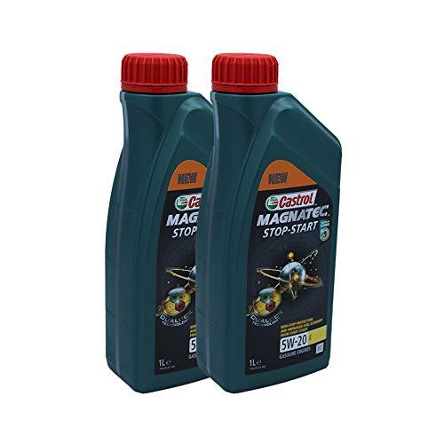 LUBRIALPHA Castrol MAGNATEC Stop-Start 5W-20 E Olio Motore Auto Confezione da 2 litro