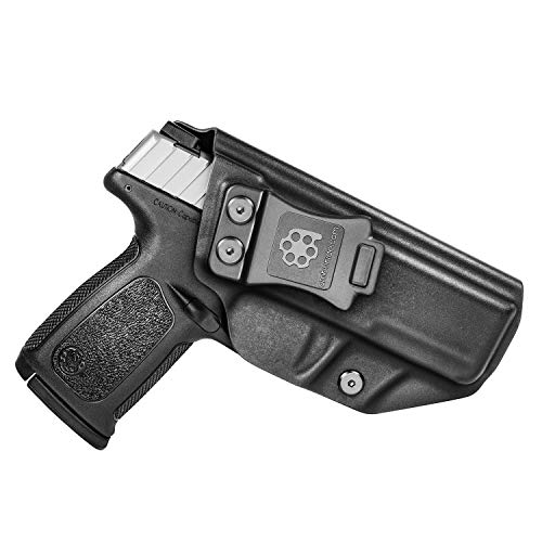Amberide IWB KYDEX Holster Fit: S&W SD9 VE & SD40 VE Pistol | Inside Waistband | Adjustable Cant | US KYDEX Made (Black, Right Hand Draw (IWB))