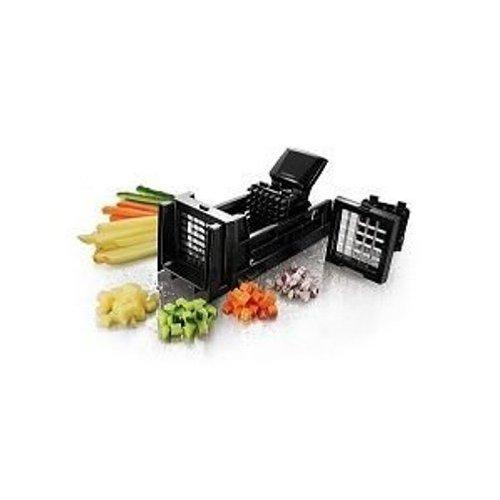 Ibili Gemüseschneider-Set Easycook 24 cm, Edelstahl, schwarz/silber, 24 x 11 x 5 cm, 3-Einheiten