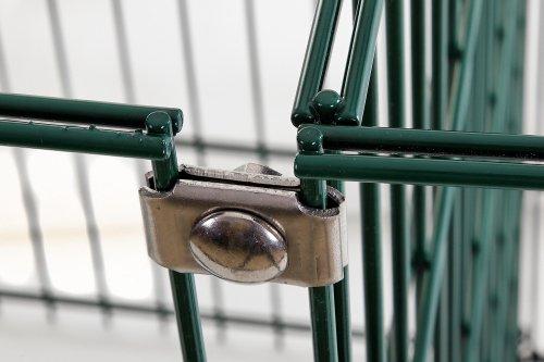Eckverbinder Doppelstabmatten - Hochwertige Zaunverbindung aus rostfreiem Edelstahl - Verbinder Doppelstabmatte - Stabmattenzaun Befestigung für diverse Zäune geeignet