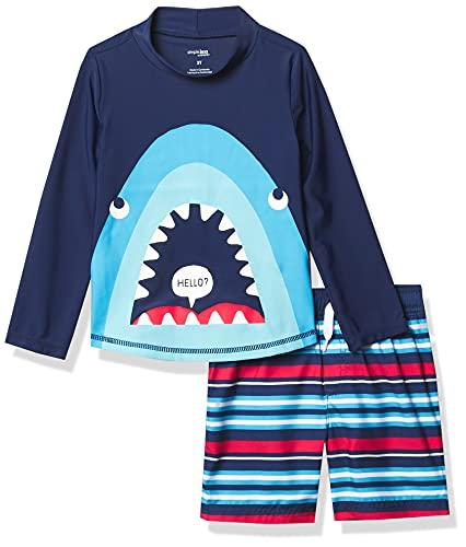 Simple Joys by Carter's Baby und Kleinkind Jungen 2-teilig Badeanzug Trunk und Rashguard ,Blue Shark ,5