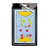 Boards Tableau Tactique Professional Tactique Handball a Anneaux Tableau Tactique, Dossier Magnétique, Matériau PVC, Impression Recto Verso - Stratégie/Tactique - 35.5 X 20 cm