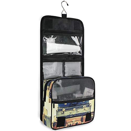 DEZIRO Wash Gargle Bag Vintage koffer oude foto cosmetische zakken met kwaliteit Rits Travel Make-up zakken