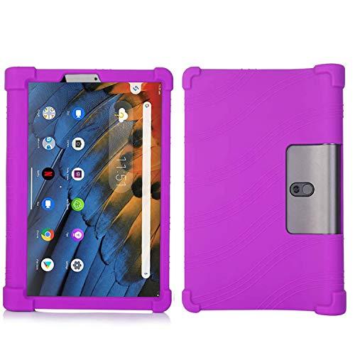 QYiD Funda para Lenovo Yoga Tab 3 8, Funda de Silicona Suave a Prueba de Golpes Protectora Cubrir Cover para Lenovo Yoga Tab 3 8 YT3-850F YT3-850M YT3-850L 8 Pulgadas Tablet, Púrpura