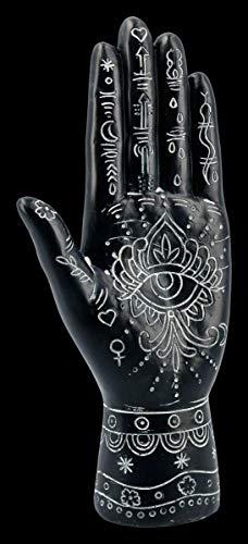 Figuren Shop GmbH Hamsa - Hand der Fatima schwarz   Deko-Figur, Deko-Artikel, Skulptur, Symbol im Islam, H 21,5 cm