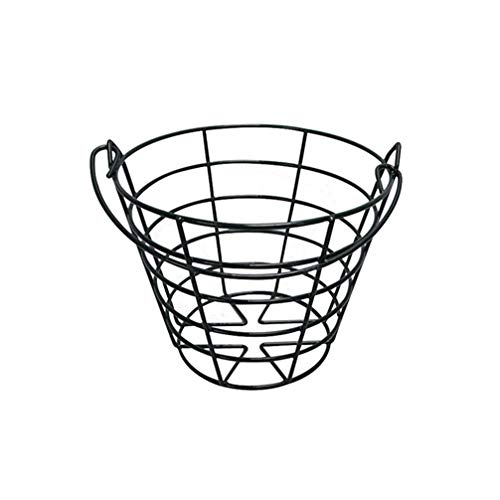 LIOOBO Golfball Eimer Korb Tragbaren Ball Metalldrahthalter Tragbehälter für Outdoor-Sportarten Außerhalb