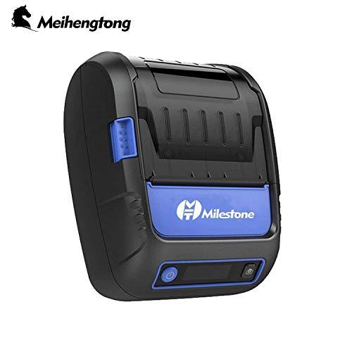 Label Receipt MHT-P58F - Impresora térmica Portabel Mini Mobile con Bluetooth para Hacer Etiquetas, Android y iOS