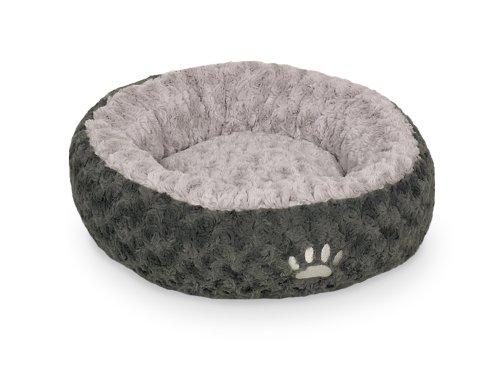 Nobby comfort bed Donut - Seoli, donkergrijs-lichtgrijs, Ø 100, grijs