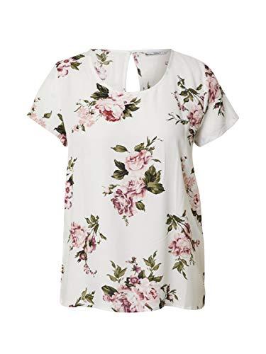 ONLY Womens ONLFIRST ONE Life SS AOP TOP NOOS WVN Blouse, AOP:Rose Flower Cloud Dancer, 38