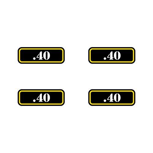 fagraphix (4X) .40 Ammo Can Sticker Set Decal Molon Labe Bullet 40 Type 2 FA Vinyl