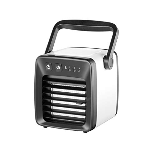 USB Ladeluft Conditioner Fan Mini tragbarer Kühlschrank Air Kühlerer Nano Fan,Tragbare Mini Klimaanlage Cool Cooling Für Schlafzimmer Lüfter (Schwarz)