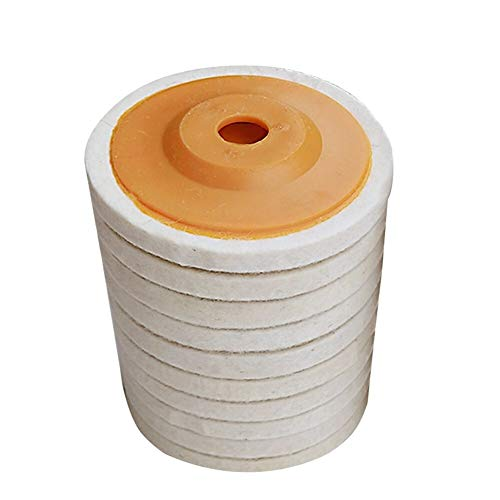 Almohadilla De Pulido 10pcs 100 mm de lana de pulido rueda de...