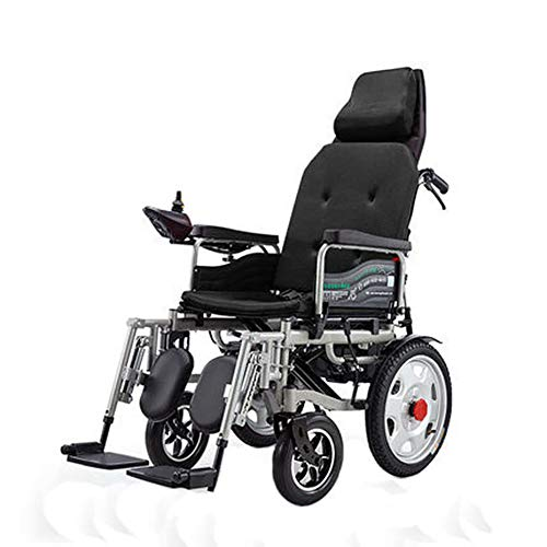 Lowest Prices! CxiaoZks Electric Wheelchair, Elderly Disabled Scooter, Electric Wheelchair, Foldable...