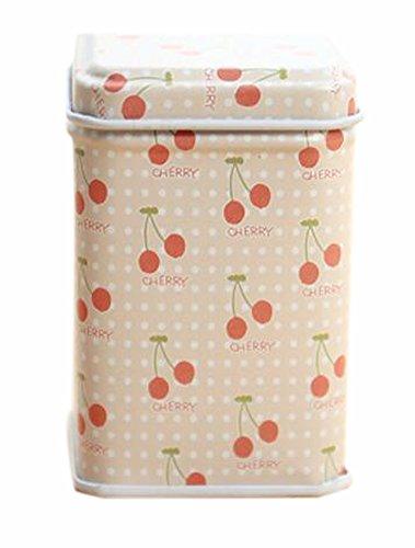 BLANCHO BEDDING Lot de 3 Pratique Tins Stockage thé/café/Sucre Canisters Cerise Rose