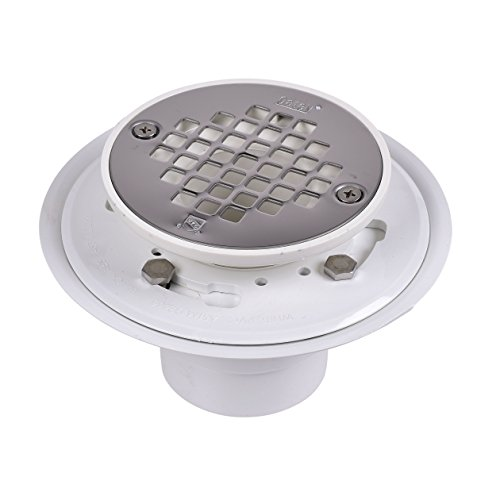Oatey 42213 Shower Drain, 2-Inch or 3-Inch, White