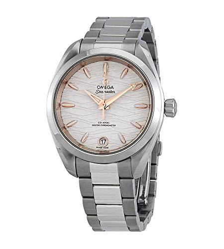 Omega Seamaster Aqua Terra Co-Axial Master Chronometer Opaline quadrante argento automatico Ladies Watch 220.10.34.20.02.001