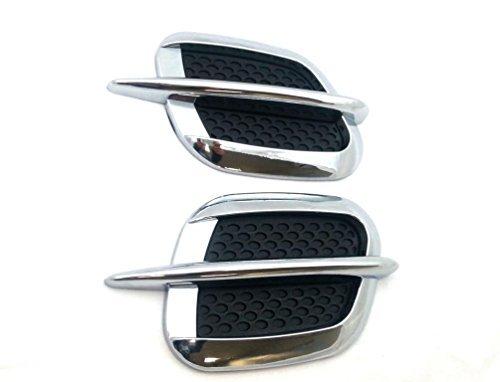 Universal Lufthutze für Motorhaube Sport Style Hochwertig Auto Dekoration Chrom Luftschlitze Lufteinlass Kiemen Lufthutze Hutze Chrom Finnen Y024