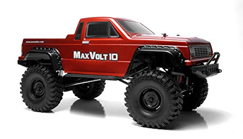 Exceed RC Rock Crawler Car 1/10 Scale 2.4Ghz Max Volt 4WD Electric Remote Control RTR Ready to Run w/ Waterproof Electronics (Red)