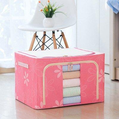 Caja De Almacenamiento De Tela Oxford Plegable Para El Hogar Grande Caja De Embalaje Y Organización De Artículos Diversos 72L 【50 * 40 * 36cm】 Girasol rosa (tela Oxford)