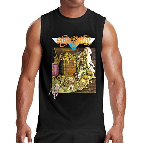 Mens Sleeveless Tshirts Man Aerosmith Toys in The Attic Tops Black