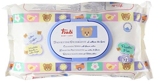 Trudi Baby Care Salviettine Detergenti al Nettare dei Fiori Bianco, 72 Unità
