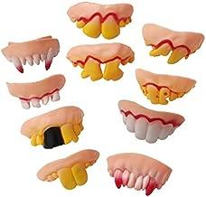 JOOEE Halloween Mardi Gras Costumes Funny Cosplay Vampire Teeth Zombie Front teeth-10 Packs