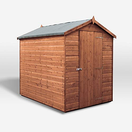 WALTONS EST. 1878 Wooden Garden Shed 7x5 Outdoor Storage Building, Pressure Treated Shiplap, Apex Roof 7ft 5ft