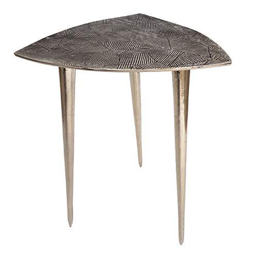 casamia Beistelltisch Metall Dekotisch Silber- oder Gold Alster 35x46x35 cm dreieckig klassisches Design Aluminium Farbe Silber