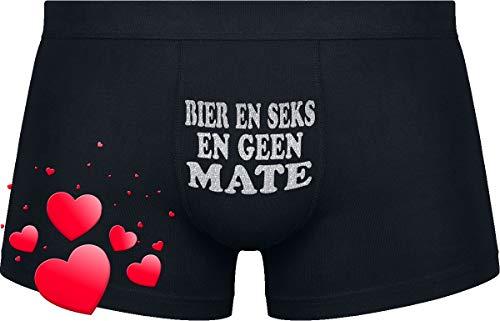 Cadeau voor de mens die alles heeft !!! | Bier en seks en geen mate | Black boxershorts
