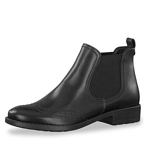 Tamaris Damen Chelsea Boots Schwarz, Schuhgröße:EUR 41
