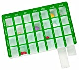 Pflegehome24® Arzneikassette Pillenbox Pillendose, Grün 7-Tage, 1 Woche -