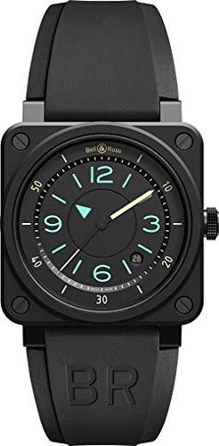 Bell & Ross Instruments Black Dial Men's Watch BR0392-IDC-CE/SRB