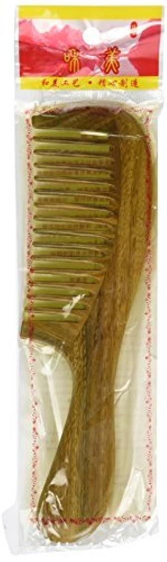 フロー関与するアウターEQLEF? Wide-tooth Green sandalwood no static handmade comb [並行輸入品]