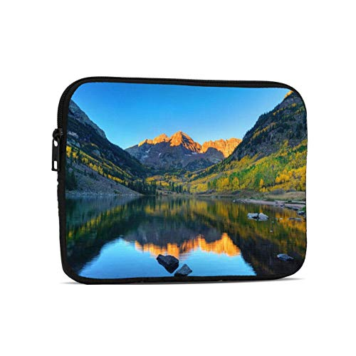 Maroon Lake Aspen Mountain Lake Mountain Landscape Forest Messenger Bag Carrying Case Fits 7 to 10 Inch Laptops Tablet Ipad