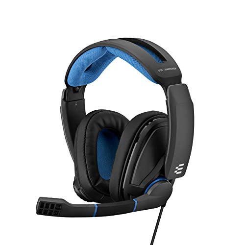 EPOS I Sennheiser GSP 300 Gaming Headset Kopfhörer, Geräuschunterdrückendes Mikrofon, Flip-to-Mute, Ergonomisch, Ohrpolster, Kompatibel mit PC, Mac, PS4, PS5, Xbox Series X, Xbox One, Nintendo Switch