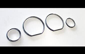 Euro Chrome Gauge Dash Dial Bezel Rings Trim Speedometer AC For BMW E36 M M3 GT Z3