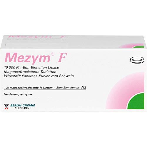 BERLIN-CHEMIE Mezym F Filmtabletten Verdauungsenzyme bei Verdauungsstörungen, 100 St. Tabletten