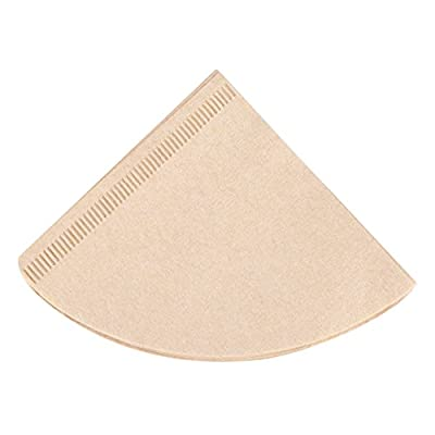 Cone Coffee Filters,Natural Brown,40Pcs Unbleached Paper,Pour Over Dripper,Drip Coffee Cup Filter Papers,Disposable Coffee Filters